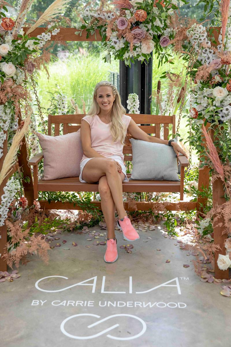 Underwood hosted her CALIA by Carrie Underwood Summer House event to showcase the line's swimwear collection on July 16 in East Hampton, N.Y. (Photo: AP Images/ Ann-Sophie Fjello Jensen)