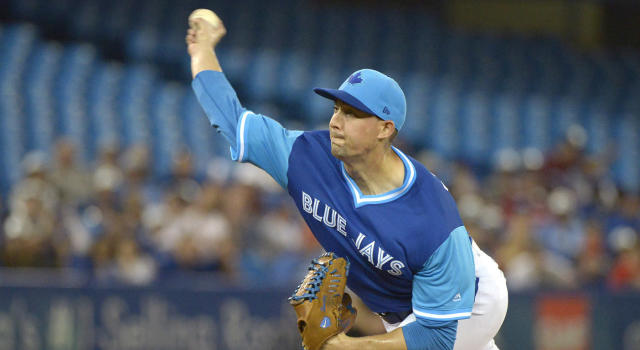 Aaron Sanchez's return to action on Saturday was a mixed bag, to say the least. (Jon Blacker/CP)
