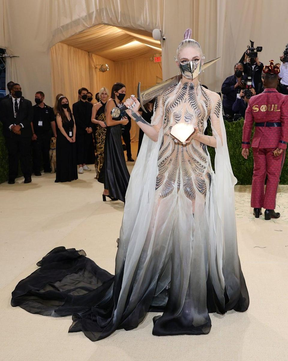 Grimes at the 2021 Met Gala (Getty Images)