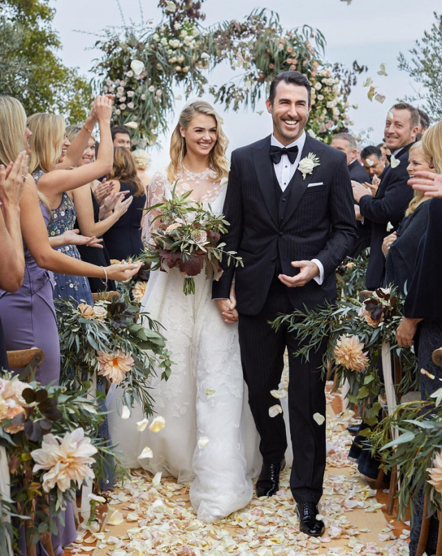 "<p>Just married! <span>The model and her World Series champ beau tied the knot Sunday in Italy and both </span>newlyweds posted their wedding pic to Instagram on Monday morning. ""I <span>feel so lucky that I got to marry my best friend!"" the gorgoeus bride wrote. ""Thank you to our family and friends for making this weekend so fun and magical!"" Verlander chimed in, ""Happy wife happy life! What an amazing beginning to our journey together."" </span>(Photo: <a href=""https://www.instagram.com/p/BbKLYpVnRDs/?taken-by=kateupton"" rel=""nofollow noopener"" target=""_blank"" data-ylk=""slk:Kate Upton via Instagram"" class=""link rapid-noclick-resp"">Kate Upton via Instagram</a>) </p>"