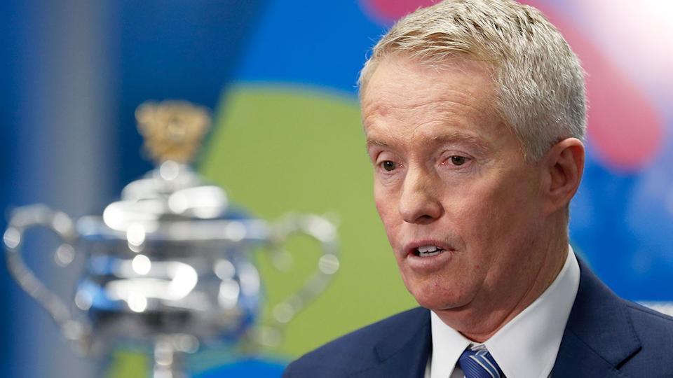 Pictured here, AO boss Craig Tiley addressing media at the 2020 Australian Open launch.