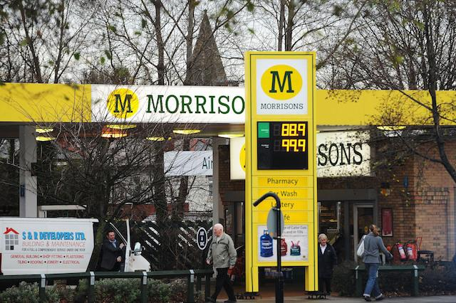 A general view of the Morrison's filling station forecourt in Whitley Bay, North Tyneside.