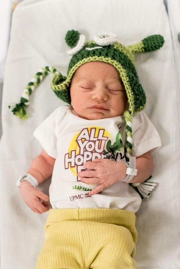 Hospital Dresses Infants As Grasshoppers To Celebrate Leap Day