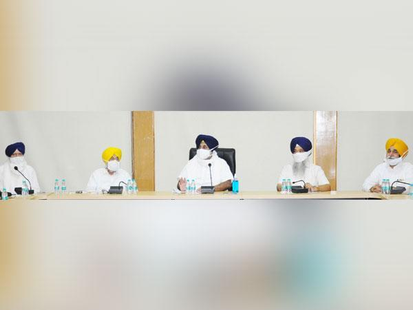 Visuals from Shiromani Akali Dal core committee meeting (Photo/SAD)