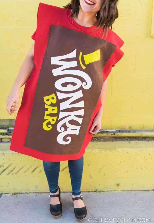 """<p>Who said <em>Willy Wonka & the Chocolate Factory</em> costumes are reserved solely for the characters of the movie? This Wonka Bar get-up looks nothing short of quirky and delicious.</p><p><strong>Get the tutorial at </strong><a href=""""https://www.girllovesglam.com/wonka-bar-costume/"""" rel=""""nofollow noopener"""" target=""""_blank"""" data-ylk=""""slk:Girl Loves Glam"""" class=""""link rapid-noclick-resp""""><strong>Girl Loves Glam</strong></a><strong>.</strong></p><p><a class=""""link rapid-noclick-resp"""" href=""""https://www.amazon.com/Emerald-Green-Acrylic-Craft-Felt/dp/B07PDDLF2Z/ref=sr_1_21_sspa?tag=syn-yahoo-20&ascsubtag=%5Bartid%7C10050.g.28698768%5Bsrc%7Cyahoo-us"""" rel=""""nofollow noopener"""" target=""""_blank"""" data-ylk=""""slk:SHOP BROWN FELT"""">SHOP BROWN FELT</a></p>"""