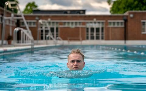 Tom Ough at Brockwell Lido - Credit: Andrew Crowley