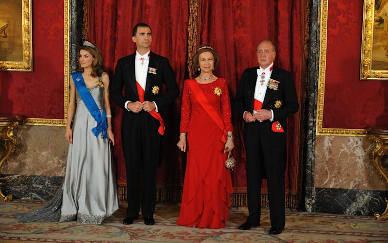 Queen Sofia is incredibly popular in Spain, ranking behind only her son, King Felipe in popularity polls - ERIC FEFERBERG  /AFP