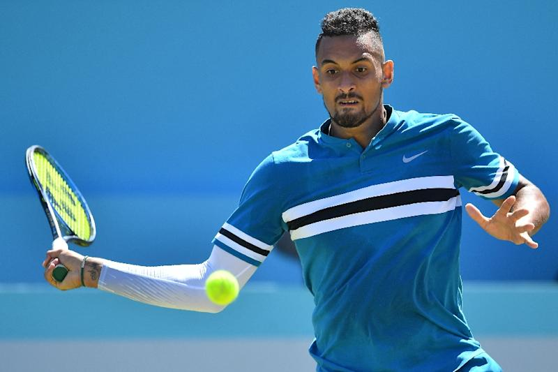 Nick Kyrgios overpowered Feliciano Lopez with 32 aces in his Queen's Club quarter-final win