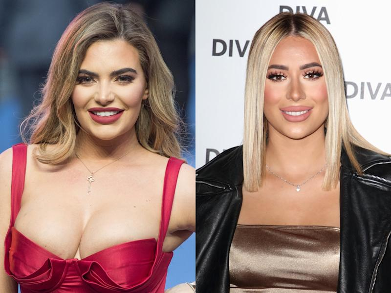 Former 'Love Island' finalist Megan Barton Hanson (left) and 'The Only Way is Essex' star Demi Sims are reportedly dating (Samir Hussein/Keith Mayhew/Getty Images)