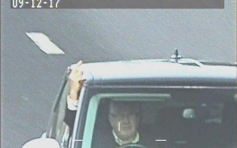 Cameras caught Hill swearing several times - Credit: North Yorkshire Police/PA