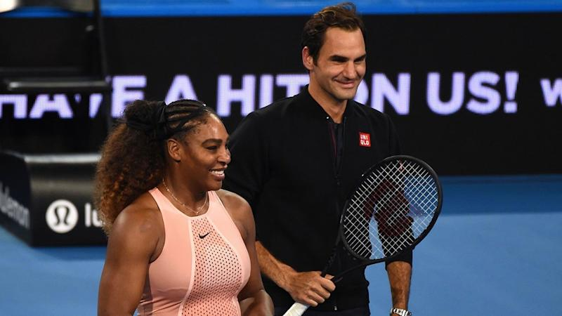 a88679375045f Serena Williams and Roger Federer Take Epic Selfie After First Face-Off