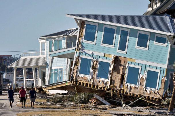 PHOTO: View of the damaged caused by Hurricane Michael in Mexico Beach, Fla., Oct. 13, 2018. (Hector Retamal/AFP/Getty Images, FILE)