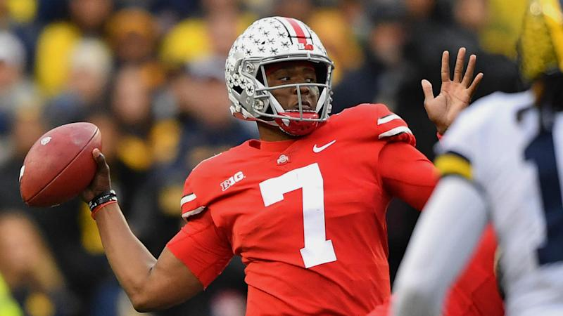 outlet store f8674 16b5d Joe Theismann gives Dwayne Haskins permission to wear No. 7 ...