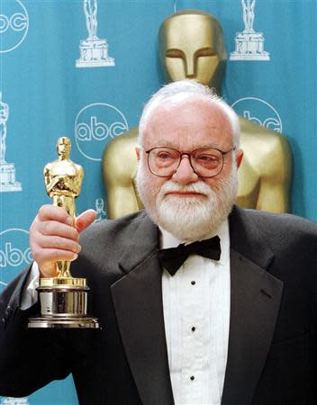 File photo of Saul Zaentz during the 69th annual Academy Awards