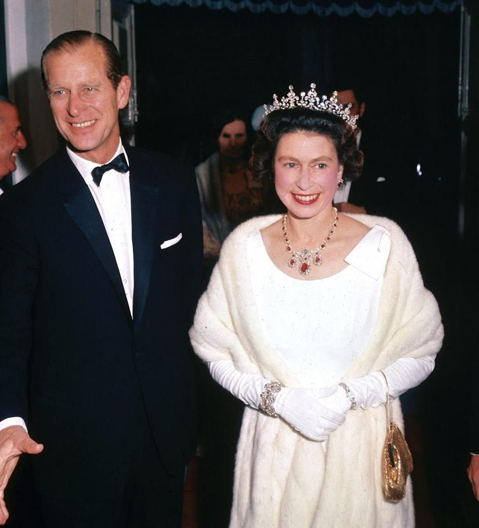 <p>During the 1960s, with Philip at her side, Elizabeth worked to decolonize and transition over 20 Commonwealth countries to self-government. (In March 1964, she also gave birth for the final time, to Prince Edward.) The frequent tours were not without perks for the pair — here, they're arriving to the lavish Manoel Theatre in Valleta, Malta, in 1967.</p>
