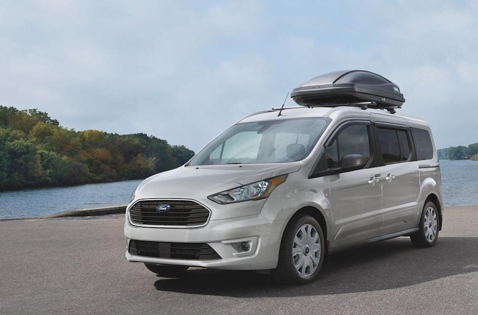 "<p>The <a href=""https://www.caranddriver.com/ford/transit-connect"" rel=""nofollow noopener"" target=""_blank"" data-ylk=""slk:2021 Ford Transit Connect"" class=""link rapid-noclick-resp"">2021 Ford Transit Connect</a> has the configurability that appeals to tradespeople as well as those who value versatility. This city van can be equipped for hauling up to seven people or hollowed out for transporting stuff, depending on whether the cargo van or the passenger wagon is selected. <a href=""https://www.caranddriver.com/ford"" rel=""nofollow noopener"" target=""_blank"" data-ylk=""slk:Ford"" class=""link rapid-noclick-resp"">Ford</a> also offers the choice of a short or long wheelbase, symmetrical rear doors or a rear liftgate, and two different four-cylinder powertrains. Despite its pragmatic personality and bouncy ride quality, the little van has nimble driving characteristics that will be appreciated in traffic and tight spaces. With its countless configurations and a long list of popular options, the 2021 Transit Connect proves it's quite a useful tool.</p><p><a class=""link rapid-noclick-resp"" href=""https://www.caranddriver.com/ford/transit-connect"" rel=""nofollow noopener"" target=""_blank"" data-ylk=""slk:Review, Pricing, and Specs"">Review, Pricing, and Specs</a></p>"