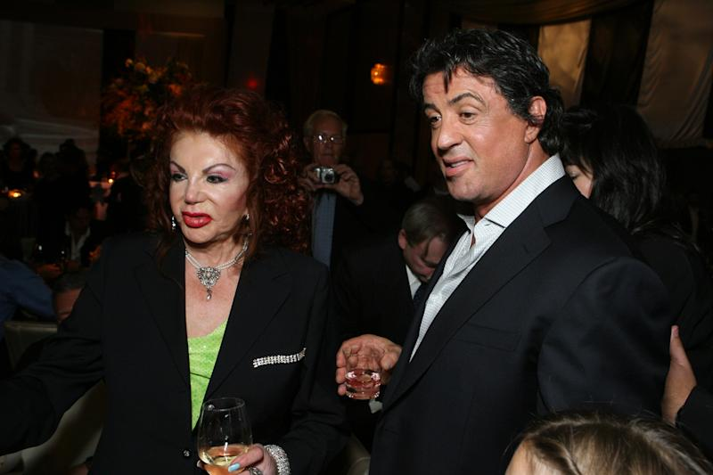 Jackie Stallone and Sylvester Stallone (Photo by E. Charbonneau/WireImage for MGM )