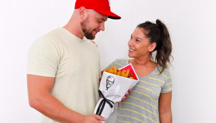 Love is in the air - and so is the smell of fried chicken (KFC)