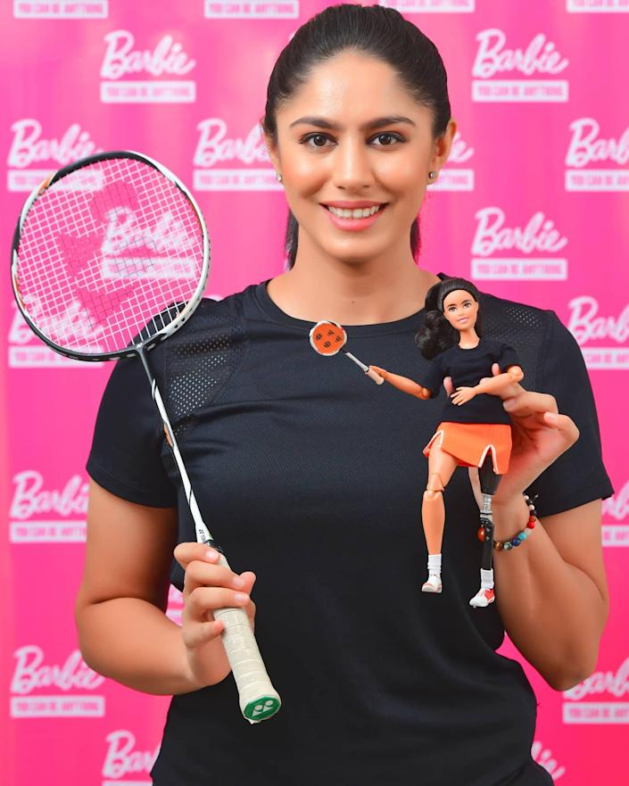 """Thank you @Barbie, it's incredible to have an OOAK Barbie Doll modelled after me. I am honoured to be in this league of Role Models and join my friend & fellow athlete @dipakarmakarofficial and other empowering BARBIE SHEROES, who have made young girls believe that one can be anything they want to be!  I truly believe that education around inclusion and diversity should start early and I hope that my story inspires many more lives, encourages young girls to harness their true potential to fight hard and become whoever they set out to be.""  - Manasi Joshi on a Facebook post dated October 11, 2020."