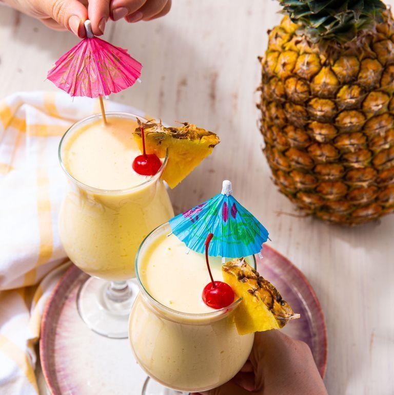"<p>Sit back and sip those cares away with a non-alcoholic <a href=""https://www.delish.com/uk/cocktails-drinks/a28885824/pina-colada-recipe/"" rel=""nofollow noopener"" target=""_blank"" data-ylk=""slk:Piña Colada"" class=""link rapid-noclick-resp"">Piña Colada</a> that's basically a tropical milkshake. It's creamy, tart, and sweet and just what the doctor ordered. One drink and you'll be hooked. </p><p>Get the <a href=""https://www.delish.com/uk/cocktails-drinks/a35137663/virgin-pina-colada-recipe/"" rel=""nofollow noopener"" target=""_blank"" data-ylk=""slk:Virgin Piña Colada"" class=""link rapid-noclick-resp"">Virgin Piña Colada</a> recipe.</p>"