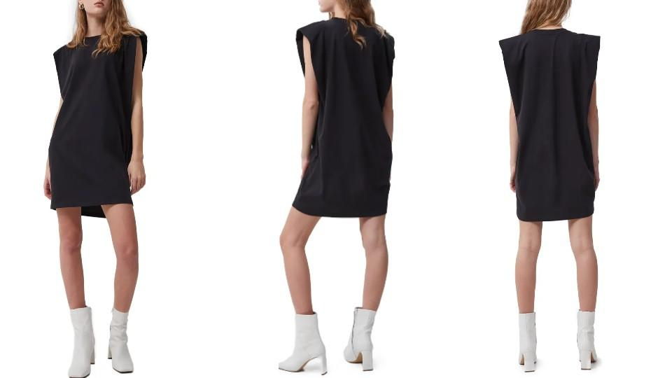 French Connection Shoulder Pad Sleeveless Cotton Knit Dress - Nordstrom, $41 (originally $78)
