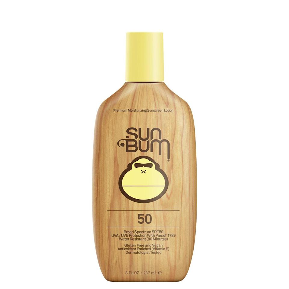 "<h2>Sun Bum Sunscreen Lotion SPF 50</h2> <br><strong>Best: Overall Sunscreen</strong><br>Infused with wrinkle-combatting vitamin E, this beachy-scented sunscreen is not only water and sweat-resistant but it also comes tested and approved by The Skin Cancer Foundation (a public and medical educational leader in skin cancer prevention).<br><br><strong>The Hype:</strong> 4.8 out of 5 stars and 160 reviews on Ulta<br><br><strong>Reviewers Say:</strong> ""I've repurchased this sunscreen for years. It works great especially compared to other clean sunscreens I've tried. It has a nice beachy scent, but nothing too overwhelming. It also doesn't leave a white cast like some sunscreens. Plus it's very moisturizing and not sticky!!""<br><br><strong>Deals: </strong>All Sun Bum products currently <strong>buy one, get one 40% off</strong> on <strong><a href=""https://www.ulta.com/brand/sun-bum"" rel=""nofollow noopener"" target=""_blank"" data-ylk=""slk:Ulta"" class=""link rapid-noclick-resp"">Ulta</a></strong> <br><br><strong>Sun Bum</strong> Sunscreen Lotion SPF 50, $, available at <a href=""https://go.skimresources.com/?id=30283X879131&url=https%3A%2F%2Fwww.ulta.com%2Fsunscreen-lotion-spf-50"" rel=""nofollow noopener"" target=""_blank"" data-ylk=""slk:Ulta Beauty"" class=""link rapid-noclick-resp"">Ulta Beauty</a><br><br><br><br><br><br><br><br>"