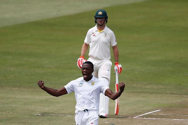 South African fast bowler Kagiso Rabada took 11 wickets in the second Test against Australia (AFP Photo/MARCO LONGARI)
