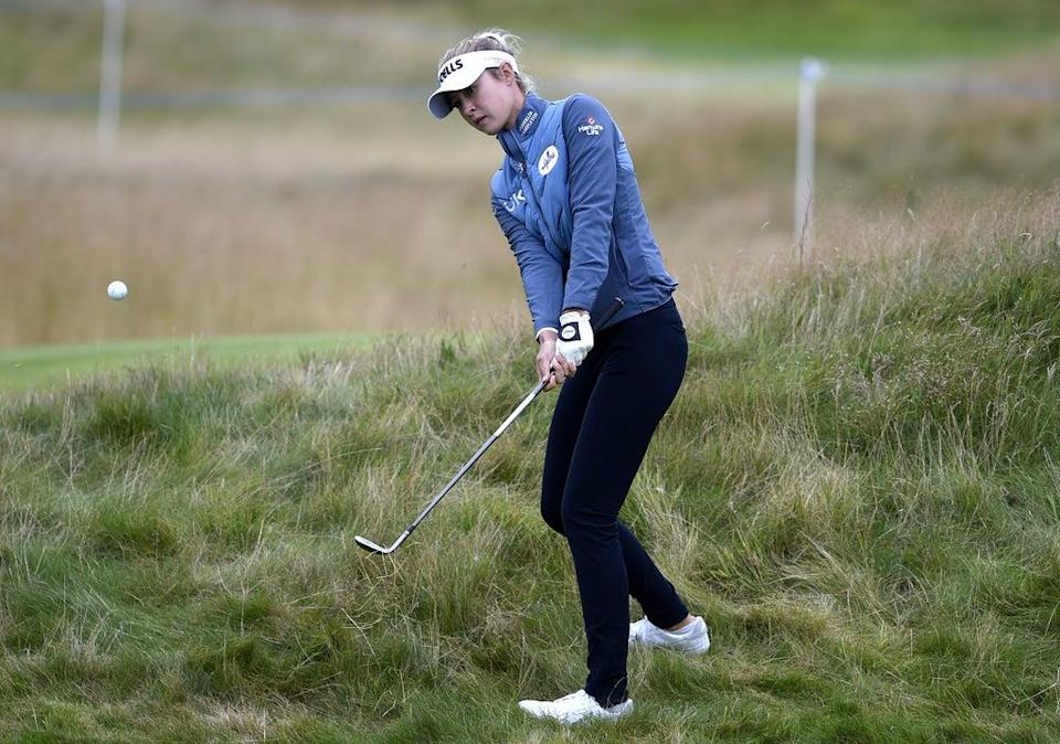 Nelly Korda on the 12th hole during day two of the AIG Women's Open at Carnoustie (PA Wire)