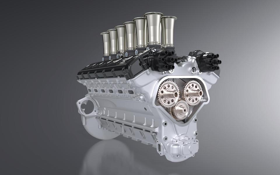 The Squalo's hand-built engine