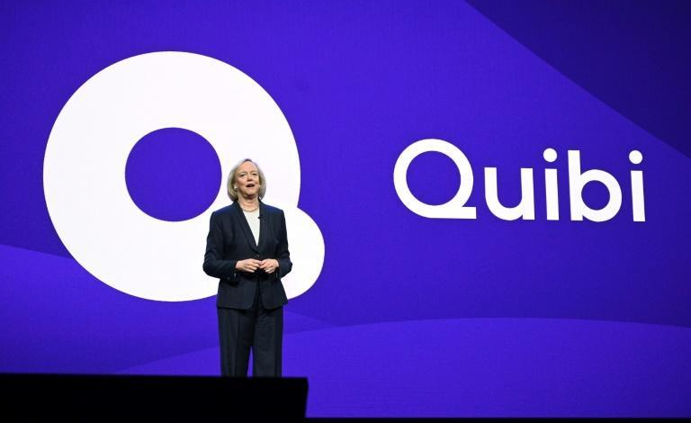 Quibi CEO Meg Whitman speaks about the short-form video streaming service in January 2020 at the Consumer Electronics Show in Las Vegas