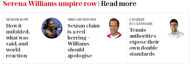 First thing's first, this is not a call for Serena Williams to apologise for her behaviour during September's US Open final.