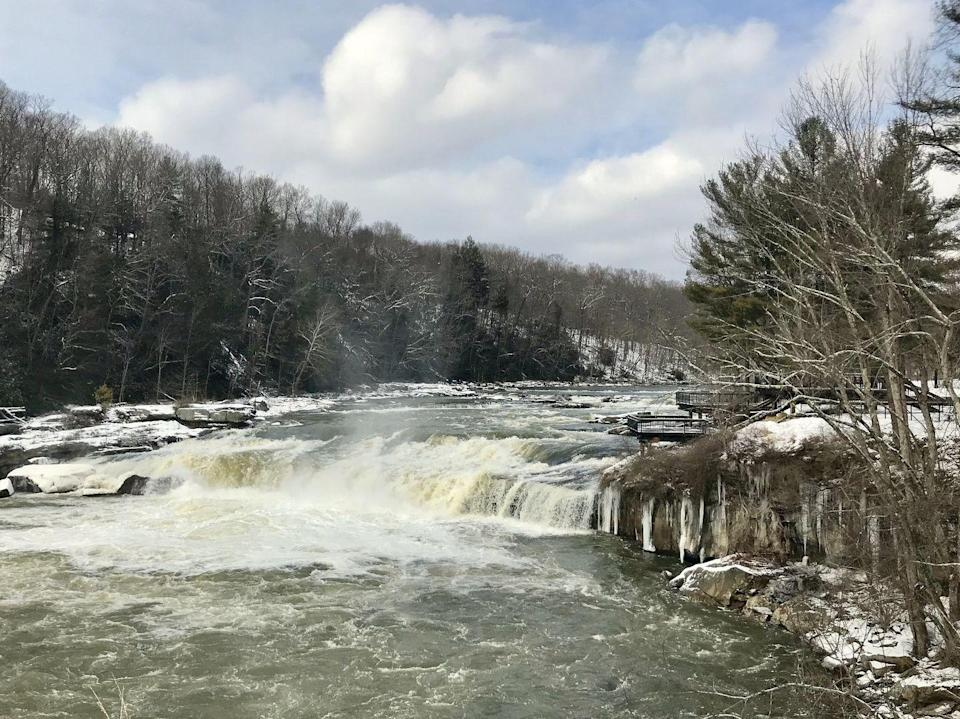 """<p>No, you're not in Ohio. When you visit <a href=""""https://www.tripadvisor.com/Attraction_Review-g53373-d106590-Reviews-Ohiopyle_State_Park-Ohiopyle_Pennsylvania.html"""" rel=""""nofollow noopener"""" target=""""_blank"""" data-ylk=""""slk:Ohiopyle State Park"""" class=""""link rapid-noclick-resp"""">Ohiopyle State Park</a>, you'll be in one of Pennsylvania's top natural areas. Cover trails throughout its 20,500 acres and stop by the incredible Youghiogheny River Gorge.</p><p><br><a class=""""link rapid-noclick-resp"""" href=""""https://go.redirectingat.com?id=74968X1596630&url=https%3A%2F%2Fwww.tripadvisor.com%2FAttraction_Review-g53373-d106590-Reviews-Ohiopyle_State_Park-Ohiopyle_Pennsylvania.html&sref=https%3A%2F%2Fwww.countryliving.com%2Flife%2Ftravel%2Fg24487731%2Fbest-hikes-in-the-us%2F"""" rel=""""nofollow noopener"""" target=""""_blank"""" data-ylk=""""slk:PLAN YOUR HIKE"""">PLAN YOUR HIKE</a></p>"""