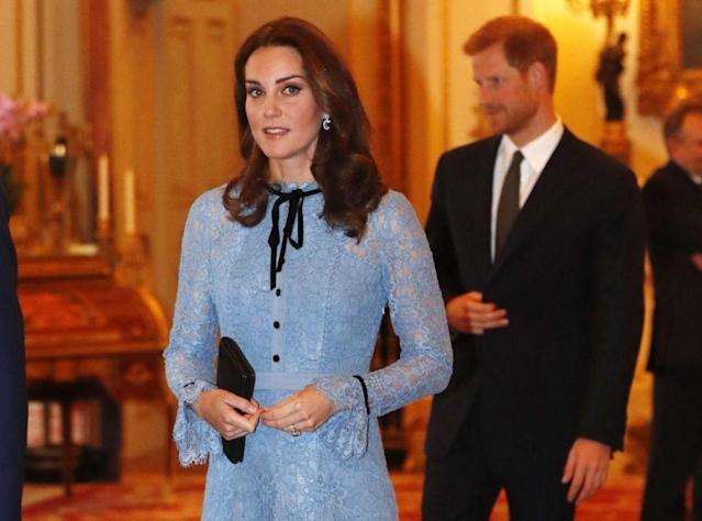 Pregnant Kate Middleton at Kensington Palace