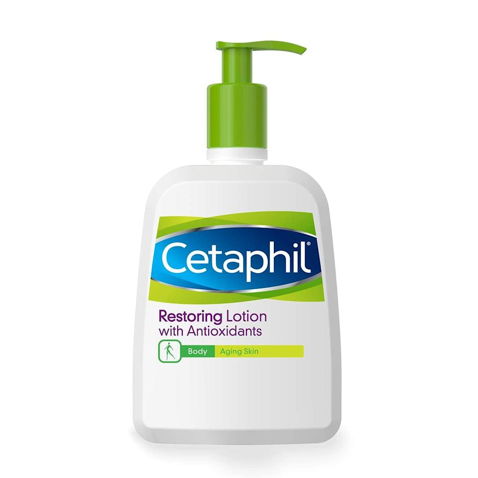 <p>Many beauty buffs love Cetaphil for its safe-for-sensitive-skin prodcuts, and this <span>Cetaphil Restoring Lotion With Antioxidants For Aging Skin</span> ($20) is one of the brand's best. It's fragrance- and paraben-free, and is made with a non-greasy formula that can applied all over the body, even on delicate areas like the chest and neck.</p>