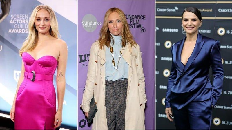 Sophie Turner Rich Fury/Getty Images), Toni Collette (Neilson Barnard/Getty Images), Juliette Binoche (Andreas Rentz/Getty Images for ZFF)