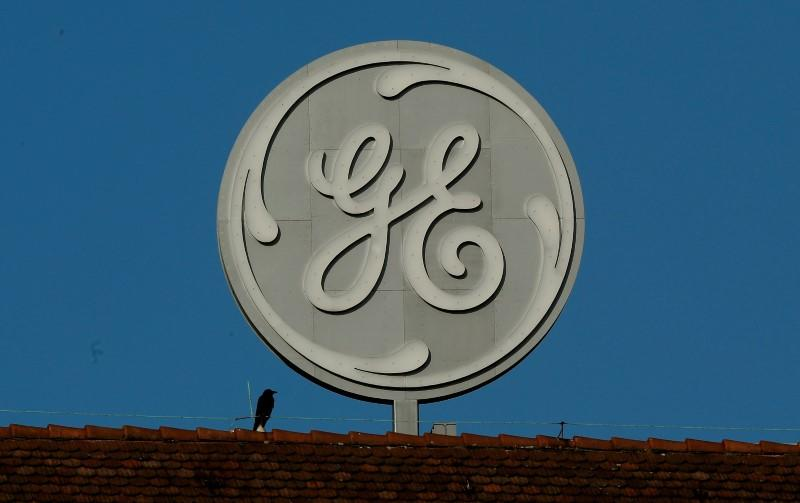 FILE PHOTO: The logo of General Electric is seen at its plant in Baden, Switzerland November 15, 2017. REUTERS/Arnd Wiegmann