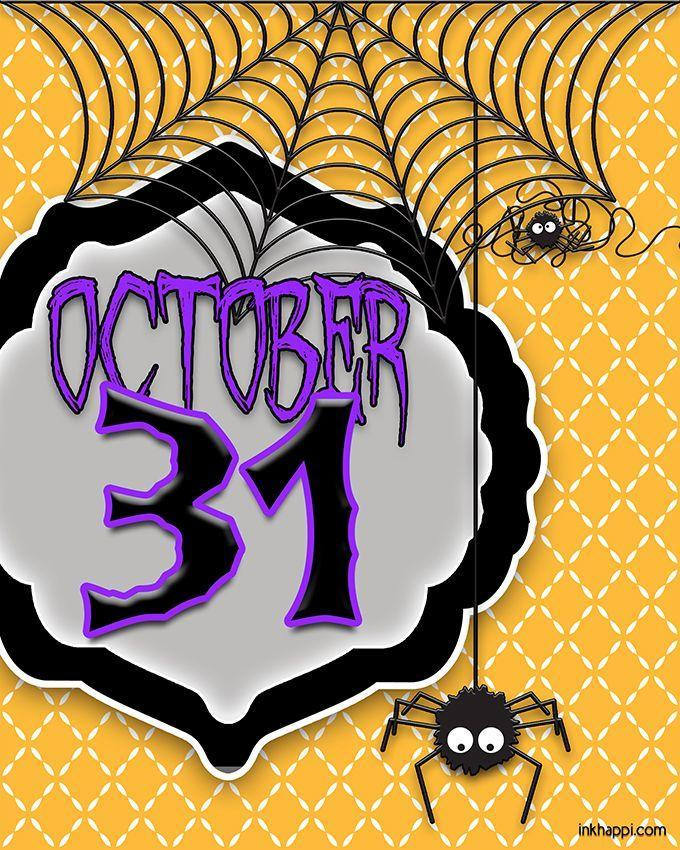 """<p>Are the kiddos in your household (or hey, the <em>adults</em>!) so excited for Halloween that they count down the days? This free printable """"October 31"""" sign keeps the excitement top of mind. Two additional free options here include an on-theme word collage and a sign with the message, """"Happy as a witch in a broom factory."""" These are all made to print easily on standard paper and pop into an 8-by-10-inch frame for instant (cheap) decor.</p><p><em><a href=""""https://seevanessacraft.com/2016/09/halloween-3-free-spooky-printables/"""" rel=""""nofollow noopener"""" target=""""_blank"""" data-ylk=""""slk:Get the printables at See Vanessa Craft »"""" class=""""link rapid-noclick-resp"""">Get the printables at See Vanessa Craft »</a></em></p>"""