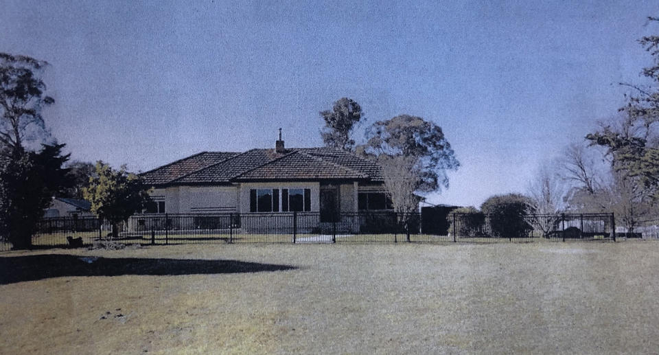 An undated image tendered as evidence shows a general view of Mathew Dunbar's property Pandora. Natasha Beth Darcy is accused of murdering Mathew Dunbar after allegedly making it appear he had committed suicide in August 2017 on his property