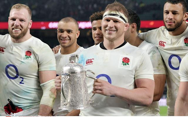 <span>England beat Scotland to claim the Calcutta Cup last weekend</span> <span>Credit: Rex features </span>