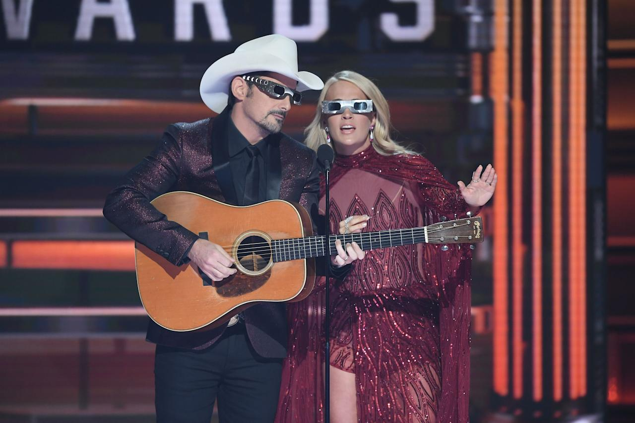 """<p><a rel=""""nofollow"""" href=""""https://www.countryliving.com/life/entertainment/news/a45621/carrie-underwood-brad-paisley-cma-awards-monologue/"""">Carrie Underwood and Brad Paisley</a> will team up for the 11th time to host the <a rel=""""nofollow"""" href=""""https://www.countryliving.com/life/entertainment/a22840178/cma-awards-2018-nominees/"""">52nd Annual CMA Awards</a>. In more than a decade as co-hosts and even longer as friends, they have shared countless moments onstage ranging from the humorous to the heartfelt. To celebrate, we're looking back on the singers' sweetest moments through the years.</p>"""