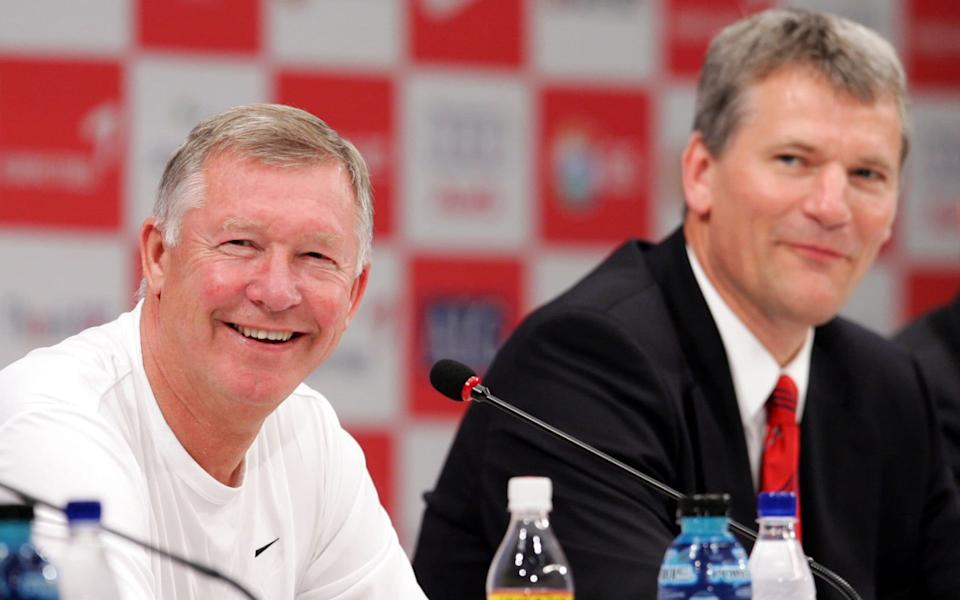 Manchester United Manager Sir. Alex Ferguson and CEO David Gill attend a press conference upon their arrival at the Shilla hotel as part of first leg of their Asian tour on July 18, 2007 in Seoul, South Korea. Manchester United will play against South Korea's Seoul FC on July 20. - GETTY IMAGES