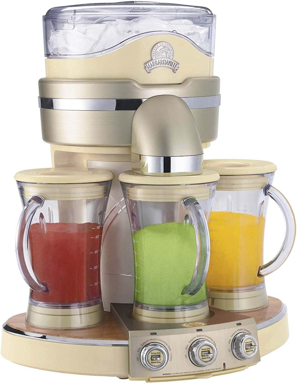 <p>The <span>Margaritaville Tahiti Frozen Concoction Maker</span> ($400, originally $500) let's you create three different frozen drink pitchers including, margarita, daiquiri, colada, mudslide, mojito, smoothies, and more. It's great for entertaining and creating multiple cocktails at in a jiffy!</p>