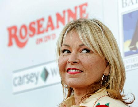 Actress Roseanne Barr arrives at the Roseanne TV series season one DVD release party at Lucky Strike Bowling Center in Hollywood, U.S., July 18, 2005.  REUTERS/Mario Anzuoni/File Photo