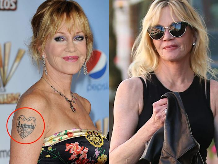 melanie griffith tattoo skitch