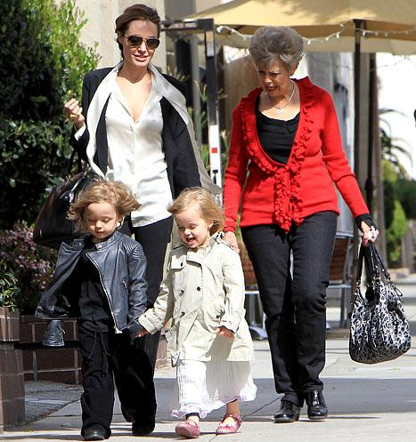 Angelina Jolie Takes Knox and Vivienne Shopping With Grandma Pitt!