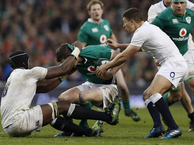 It was a bruising encounter in Dublin (Getty)