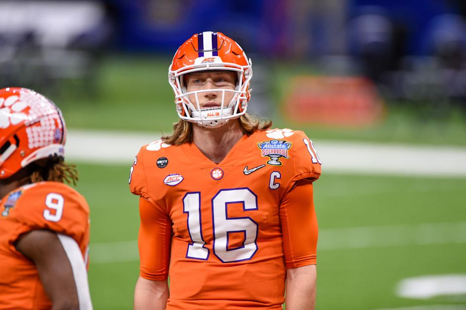 Trevor Lawrence is the heavy favorite to be the first pick of the NFL draft. (Photo by Ken Murray/Icon Sportswire via Getty Images)