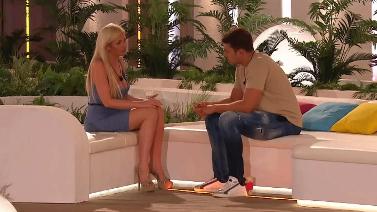 Amy Hart and Curtis Pritchard had one of the most dramatic break-ups of the 2019 series of 'Love Island'. (ITV2)