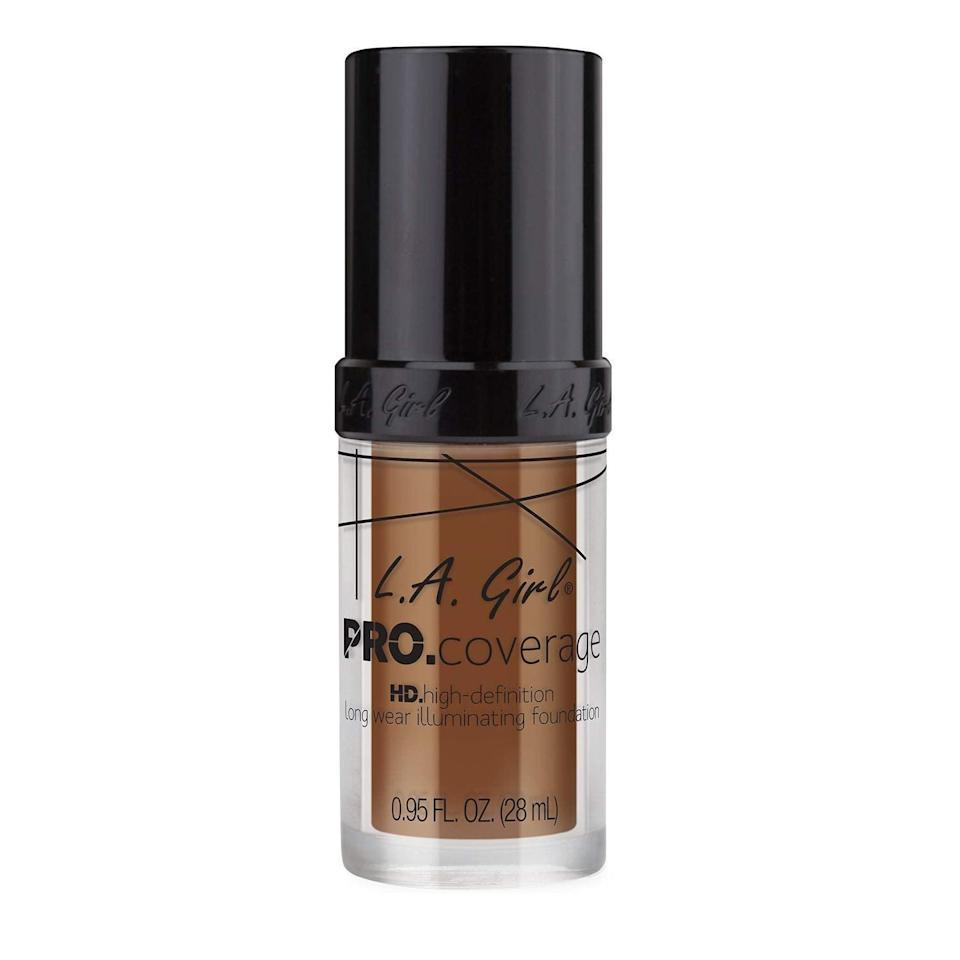 <p>The <span>LA Girl Pro Coverage Foundation</span> ($6) is a favorite among beauty bloggers for its full-coverage finish and great range of shades. Plus, it comes in a pump, meaning you won't have to dip a brush or fingers into the liquid, and it will stay fresh longer. </p>