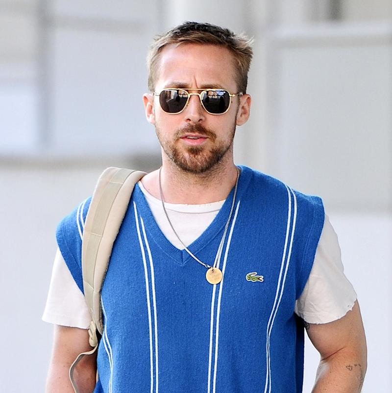 4496cca26d0 Ryan Gosling in a Sweater Vest Is the Pinnacle of Hot Dad Fashion